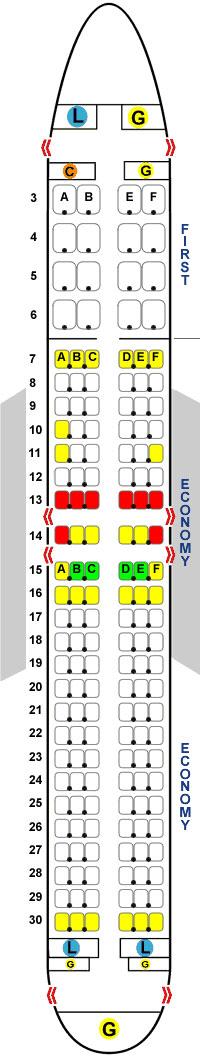 места в самолете Boeing