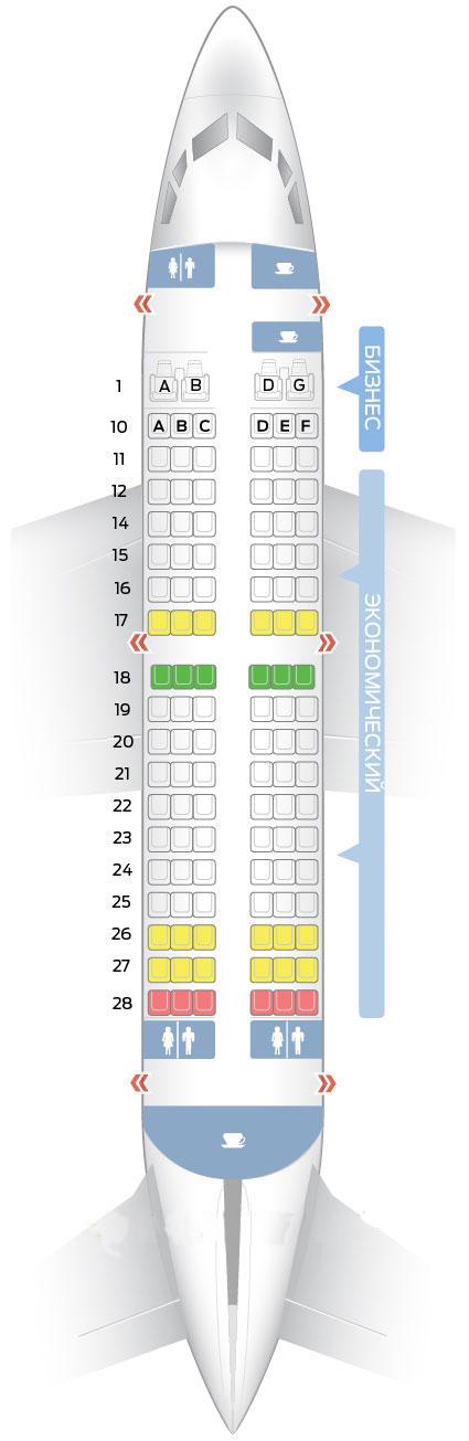Расположение Мест В Боинге 737