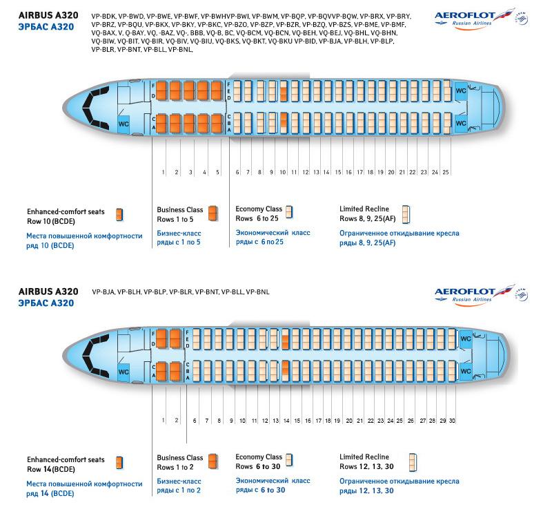 в Airbus A320 Аэрофлот